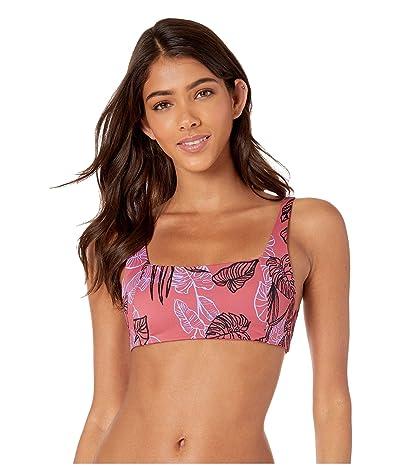 RVCA Tropic Punch Two-Way Bikini Top (Bordeaux) Women