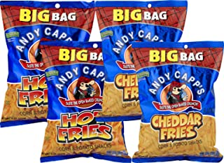 Andy Capps Fries 8 oz. Big Bag: Your Choice of Cheddar, Hot or Variety 4 Packs (Variety Pack)