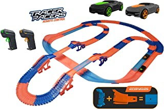 Tracer Racers Flex Tracks R/C High Speed Remote Control Flexible Glow Track Set for Change on The Go Racing