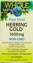 Whole Earth & Sea from Natural Factors, Herring Gold 1000 mg, Whole Food Fish Oil Supplement, Non-GMO and Gluten Free, 30 softgels (30 Servings)