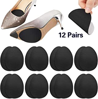 12 Pairs Anti Slip Shoe Pads Non-Skid Stickers High Heel Shoe Sole Protector Adhesive Sole Protector Grips for Women Girls