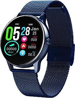 XMYL Pulsera de Actividad Smartwatch, Pulsera Inteligente con Pulsómetro, Impermeable IP68 Reloj Deportivo Podómetro para Mujeres, para Teléfono Inteligente Android iOS iPhone Samsung Huawei