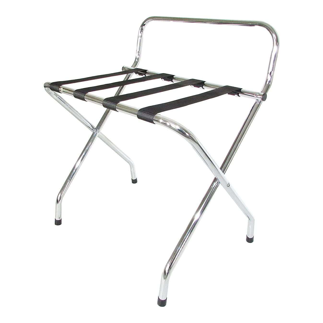 USTECH Chrome Luggage Rack with High Back