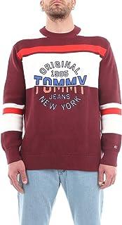 Tommy Jeans Men's TJM Round Logo Sweater Sweatshirt