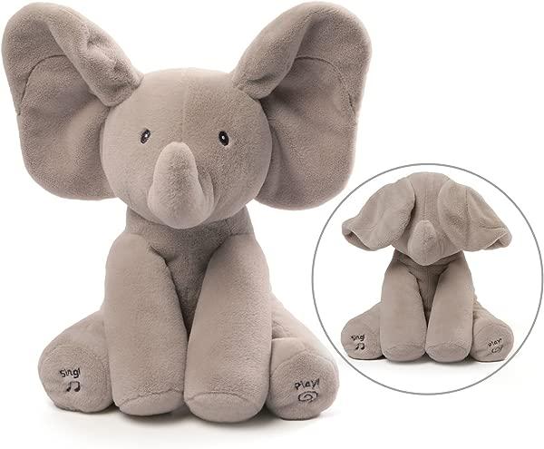 GUND Baby 动画 Flappy 大象毛绒动物毛绒灰色 12