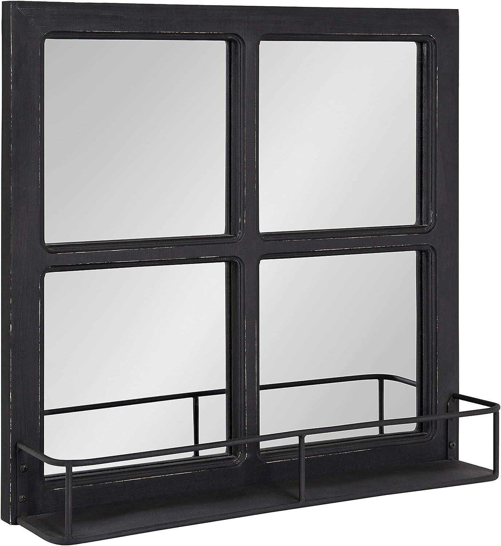 Kate 5%OFF and Laurel Jackson Distressed Windowpane Mirror Wood M 新色追加 with