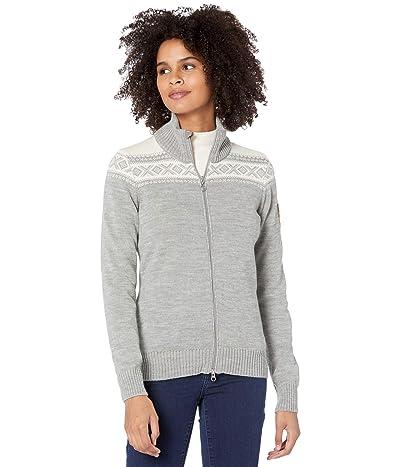 Dale of Norway Cortina Merino Feminine Jacket (Light Charcoal/Off-White) Women