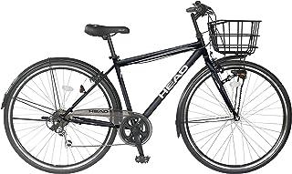 ヘッド(HEAD) ×CHACLE(チャクル) PRESTEZZA(プレステッツァ) 軽くてパンクしないノーパンクタイヤ装着自転車 カゴ付き クロスバイク 外装6段変速 8倍明るい LED オートライト BAA適合車 CRR-CC-HE276TR-HD
