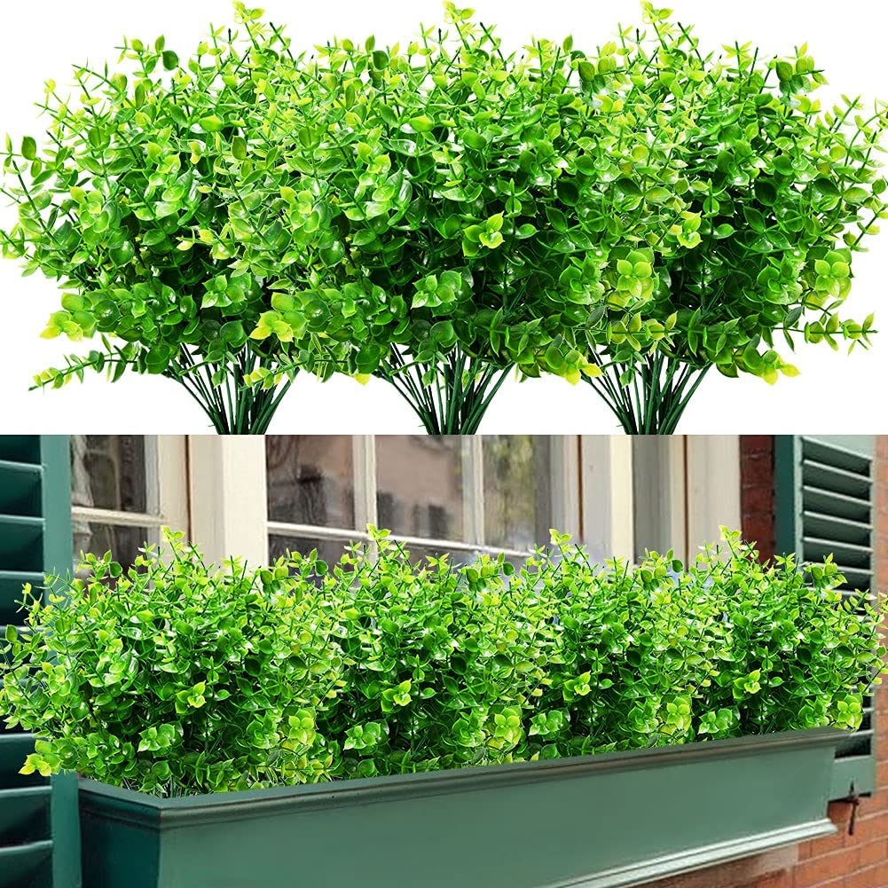 GETYARD 24 Bundles Outdoor Artificial Decorati Excellence Stems New Free Shipping Boxwood for
