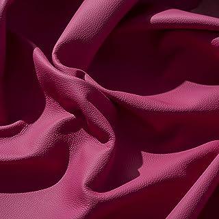 IPEA Coupes de Cuir véritable en différentes Couleurs et Dimensions – Surface martelée, pièces de Cuir, Fuchsia, Demi Couc...