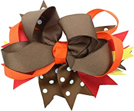 juDanzy Large Thanksgiving Hair Bow Clip for Girls