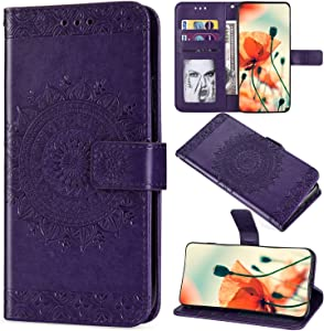 Saceebe Compatible with Galaxy S10 Plus Cover case Leather Flip Book W...