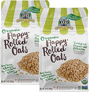 Bakery On Main Gluten-Free, Organic + Non-GMO Happy Oats, Rolled, 24 Ounce (2 Count)