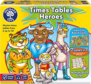 Orchard Toys Times Tables Heroes, multi-colour, Board Game, 101