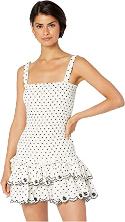 Ivory Polka Dot Embroidery