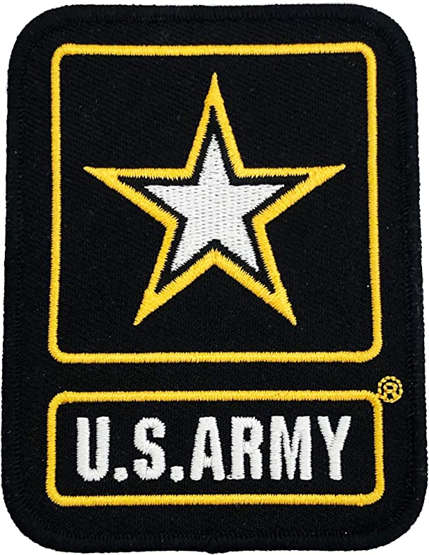 U S Army Embroidered Souvenir Patch With Golden Color Border For Men Women Kids Perfect Gift For US Army Lover Perfect Souvenir Gift Collection