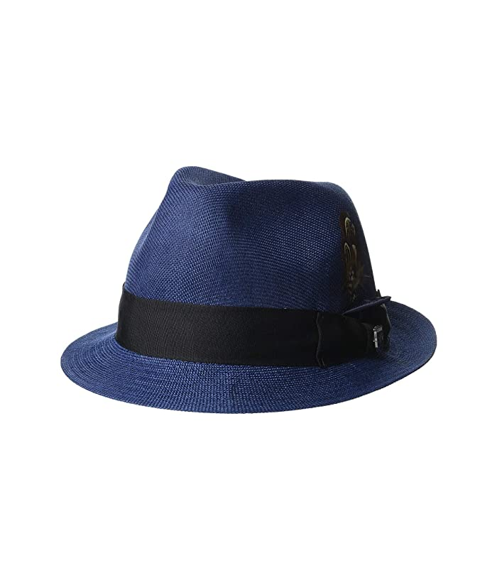 Stacy Adams Matte Toyo Fedora (Navy) Fedora Hats
