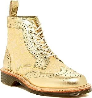 Dr. Martens Women's Surya 7 Eyelet Brogue Boots,Gold,8 M UK / 10 B(M) US