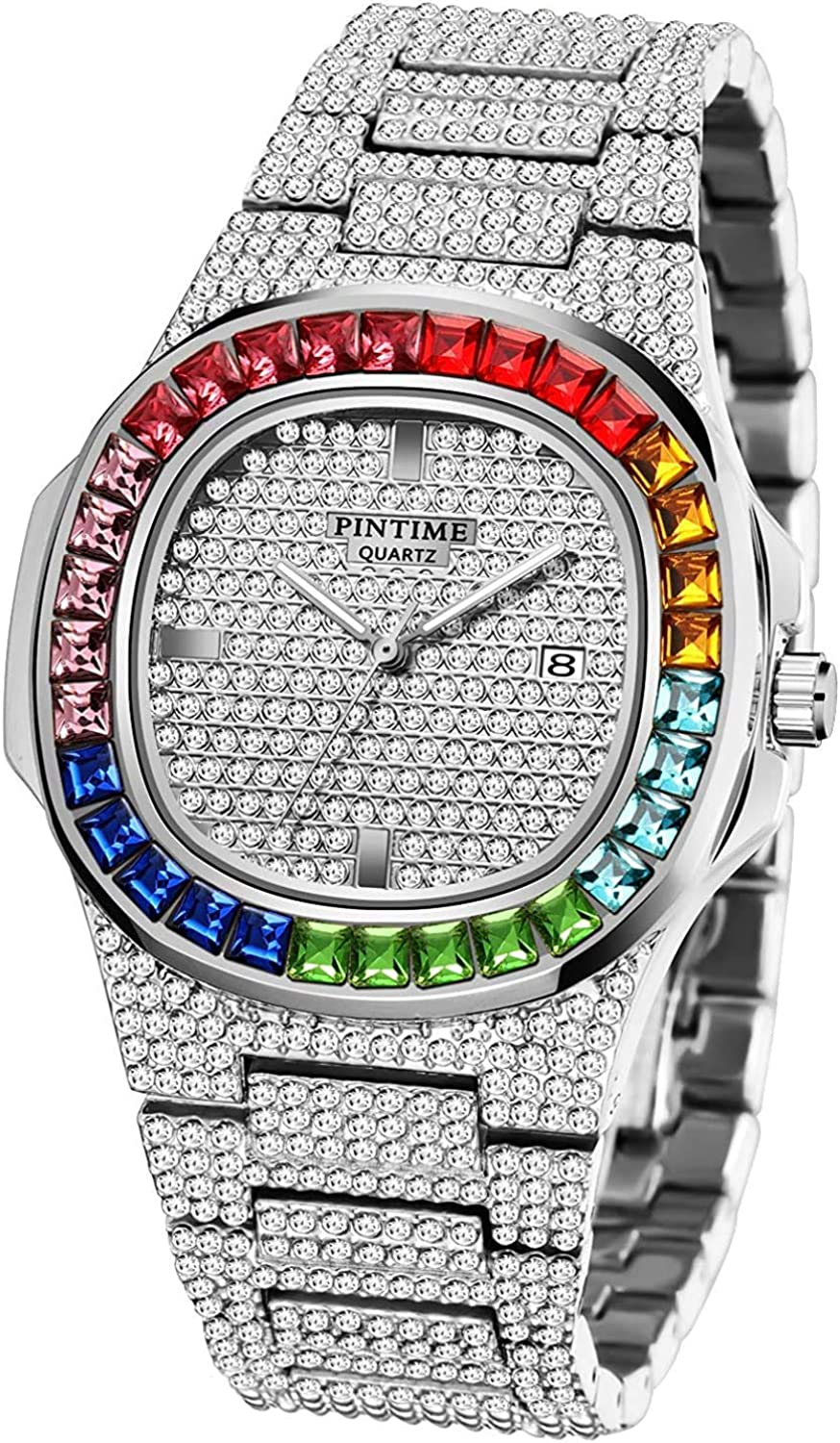 Luxury Bling-ed Out Colorful Full Quartz Diamond Limited time trial price Brand Cheap Sale Venue Fashion Watches