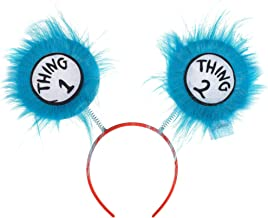 Costumes USA Thing 1 and Thing 2 Head Bopper for Kids, Dr. Seuss Costume Accessories, One Size