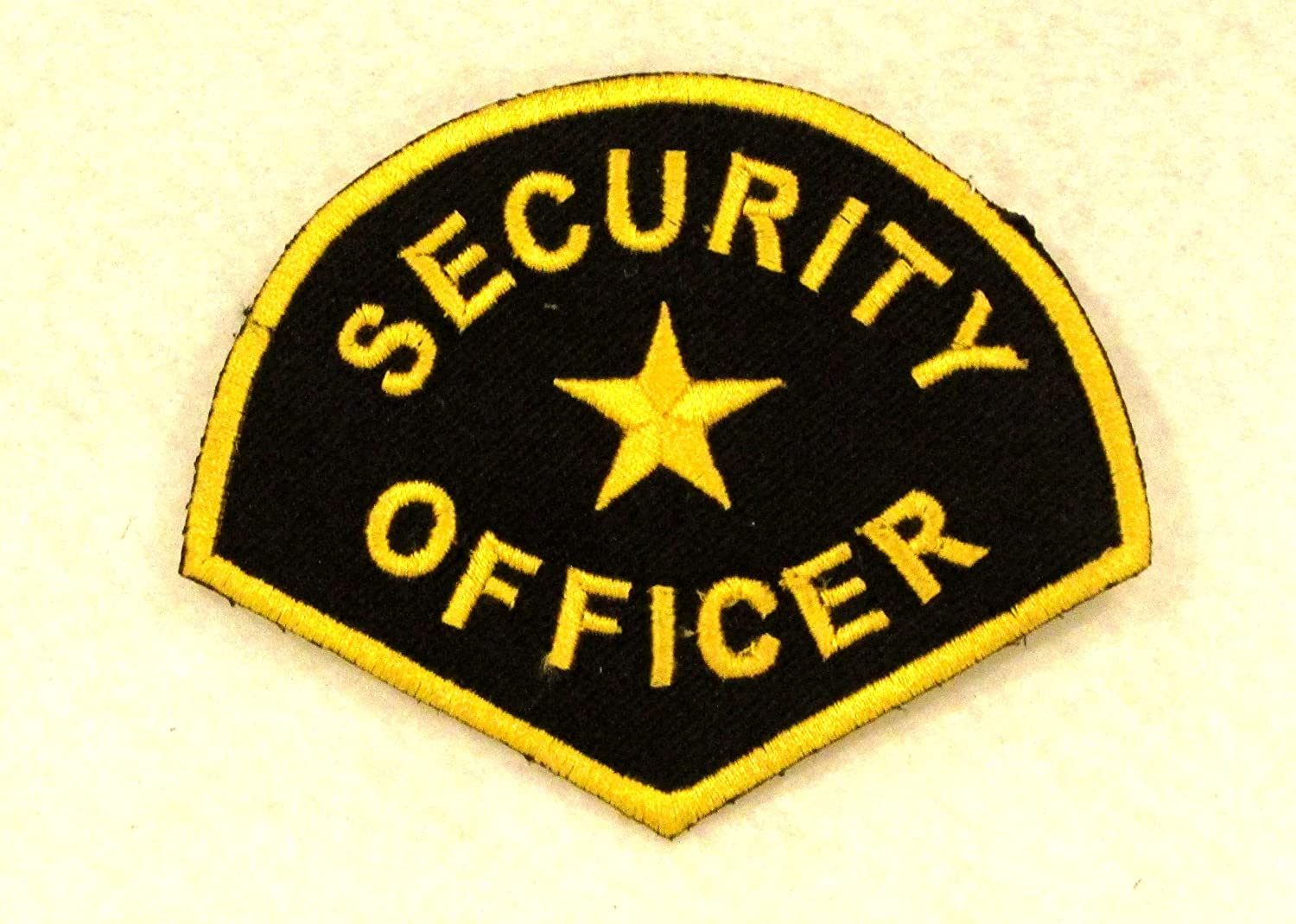 Security Officer Yellow On Black Small Patch for Jacket Vest
