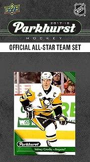 2017 2018 Upper Deck PARKHURST Official All Star Series NHL Hockey 10 Card Set Featuring Alexander Ovechkin, Auston Matthews, Connor McDavid, Sidney Crosby, Patrick Kane Plus
