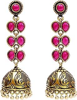 Royal Bling Bollywood Jewellery Traditional Ethnic Oxidized Gold Tone Party Wear Bridal Bride Wedding Bridesmaid Indian Pi...