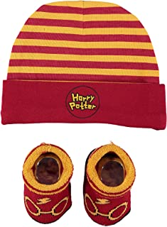 Harry Potter Infant Boys Baby Beanie Hat and Baby Bootie Socks Gift Set 0-12 Months