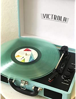 Victrola Vintage 3-Speed Bluetooth Portable Suitcase Record Player with Built-in Speakers | Upgraded Turntable Audio ...