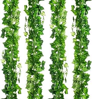 CEWOR 36pcs (236 Feet) Artificial Ivy Fake Greenery Vine Leaves for Home Wedding Garden Swing Frame Decoration
