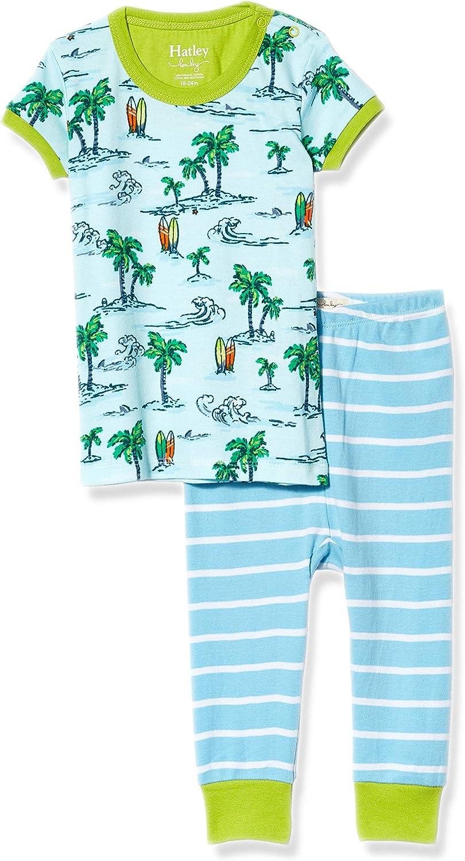 Hatley Baby Boys' Organic Cotton Short Sleeve Mini Pajama Set