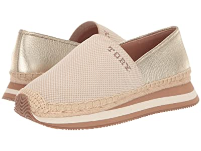 Tory Burch Daisy Logo Slip-On Trainer (Natural/Spark Gold) Women