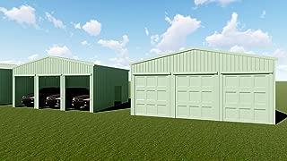 Weizhengheng WZH with Three Electronic Doors Car Metal Carport/Garage Building Kit/Cabin Size:30'×30'×12'