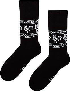 Steven, Calcetines de algodón a media pierna para hombre, duraderos y cómodos, negros, talla EU 45-47