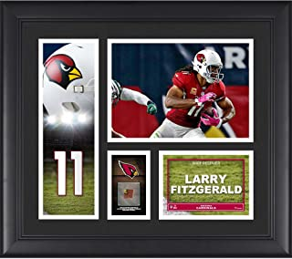 "Larry Fitzgerald Arizona Cardinals Framed 15"" x 17"" Player Collage with a Piece of Game-Used Football"