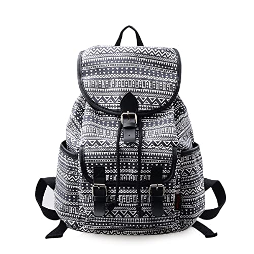 Epokris Bookbag Rucksack Casual Daypack Floral Backpack for Elementary 265 (wave)