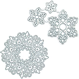 Cutting Dies for Card Making Metal Cut Dies 3D Stencil Mould Nesting Template for DIY Decorative Embossing Photo Scrapbook Album Paper Letter Craft Compatible Die Cutting Machine (Lace Layered Flower)