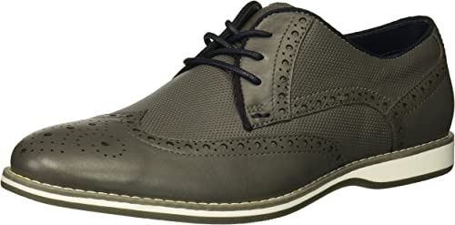 Kenneth Cole REACTION Men's Weiser LACE UP Oxford, grau, 11.5 M US