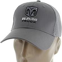 Dodge Ram Truck Mesh fabric on back Gray Baseball Cap Hat 1500