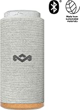 House of Marley, No Bounds Sport, Outdoor Speaker 12-Hour Battery Life, Water & Dust-Proof, IP67 Buoyant, Quick Charge, Wireless Dual Speaker Pairing, Aux-in, Carabiner Clip for Travel Gray