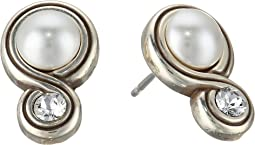 Infinity Pearl Post Earrings