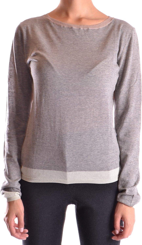 Bp Studio Women's MCBI16042 Grey Cotton Jumper