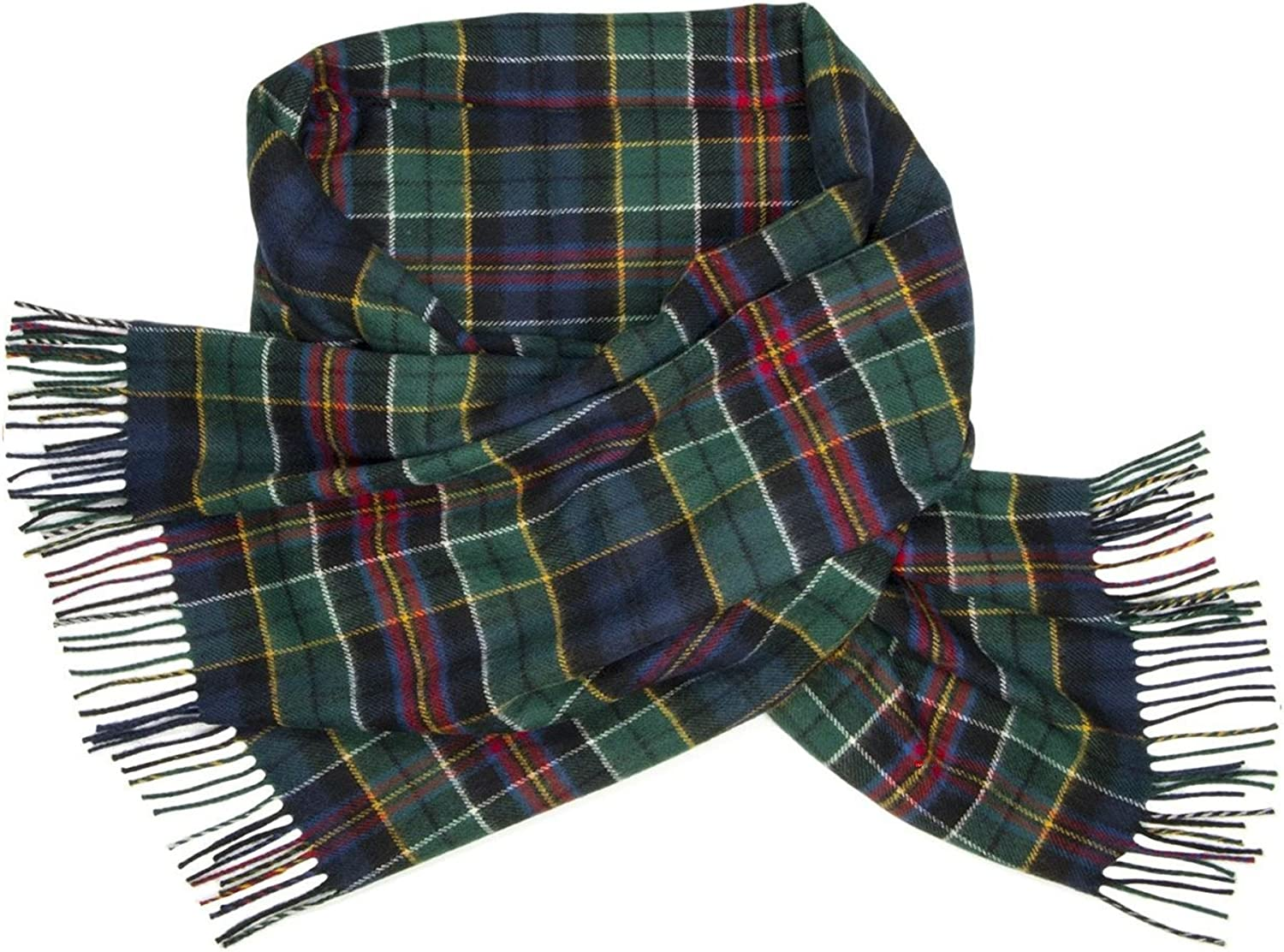 Ladies Shawl Lambswool Allison Modern Tartan 70 x 180 cm