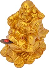 Worth Having - Feng Shui Laughing Buddha, Wealth Laughing Buddha Sit on Money Frog Statue Lucky Toad Car Ornaments Home Of...