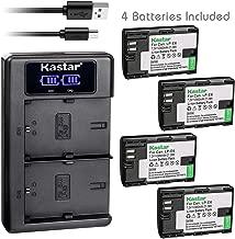 Kastar USB LCD Dual Charger and 4 Pack Battery for Canon LP-E6 LP-E6N, LC-E6 LC-E6E, Blackmagic Design Pocket Cinema Camera 4K, Marshall On-Camera HDMI Monitor, IKAN On-Camera HDMI Monitor