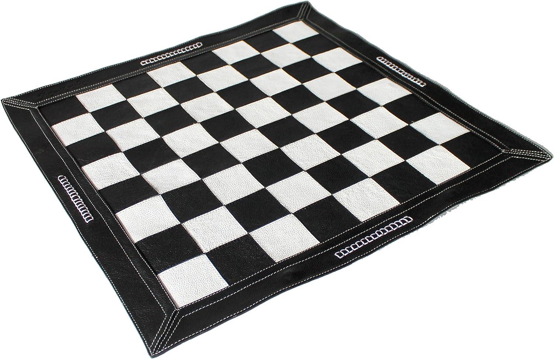 estar en gran demanda StonKraft Ajedrez de Cuero Genuino Genuino Genuino DE 19  x 19  - Color Negro   Acumulación de ajedrez   Torneo de ajedrez  Entrega directa y rápida de fábrica