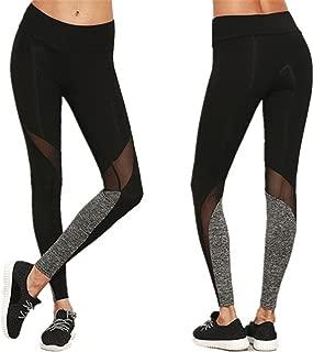 BRZSACR Deportivas Pantalones Deportes para Running Yoga Fitness Gym Leggings Deportivos de Malla para Mujer Pantalones de Yoga Slim