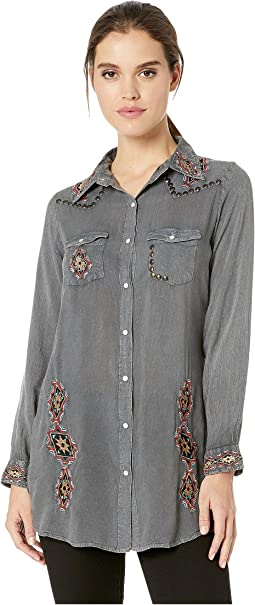 Nailhead Embroidered Tunic