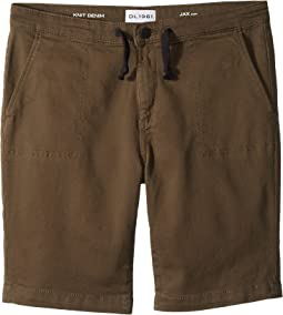 DL1961 Kids Jax Utility Shorts in Wingman (Big Kids)