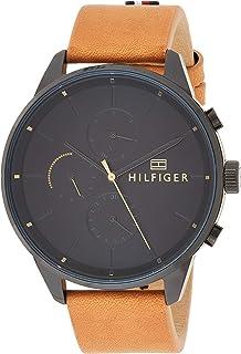 Tommy Hilfiger Mixte Multi-Cadrans Quartz Montre avec Bracelet en Cuir 1791486